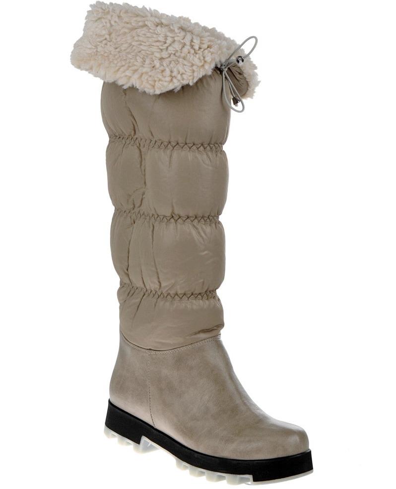 2014 Tüylü Kadın Çizme Modeli Örneği