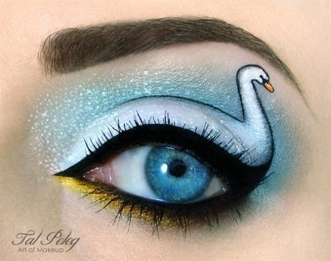Beyaz Kuğu Göz Makyajı