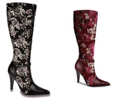 Çiçek Desenli Çizme Modelleri