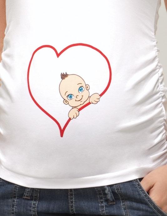 Espirili Kalpli Hamile Tişörtleri