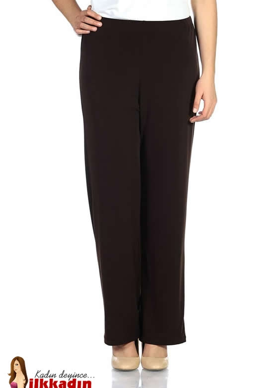 Faik Sönmez Kahverengi Geniş Paça Büyük Beden Pantolon Modeli 70 TL