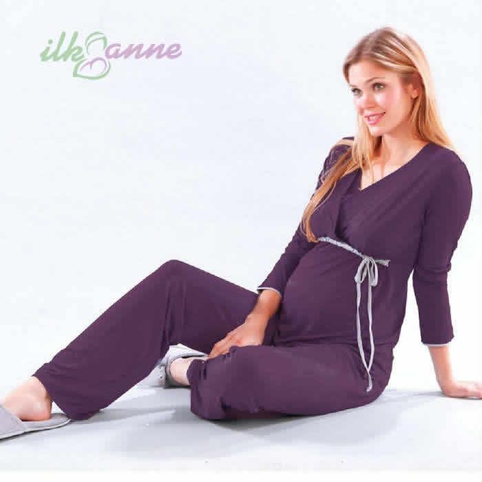 Hamile Anneler İçin Lohusa Pijama Modeli