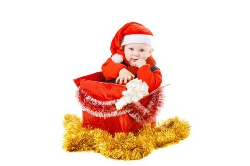 Hediye Kutusu İçindeki Yeni Yıl Bebeği