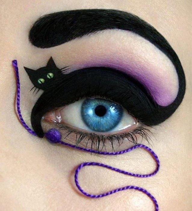 Kara Kedi Göz Makyajı