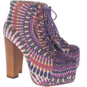 Karışık Renkli Topuklu Ayakkabı