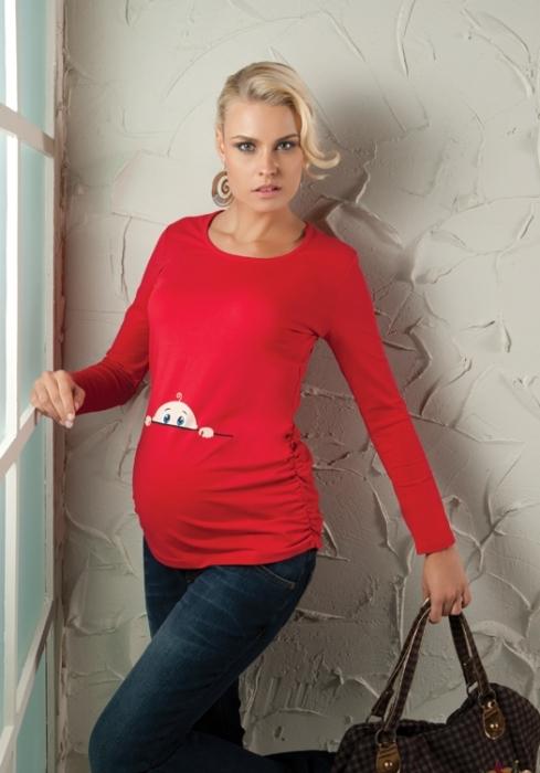 Kırmızı Komik Hamile Tişörtleri
