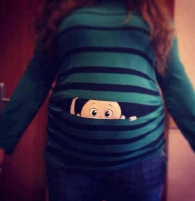 Komik ve eğlenceli hamile tişörtleri 4