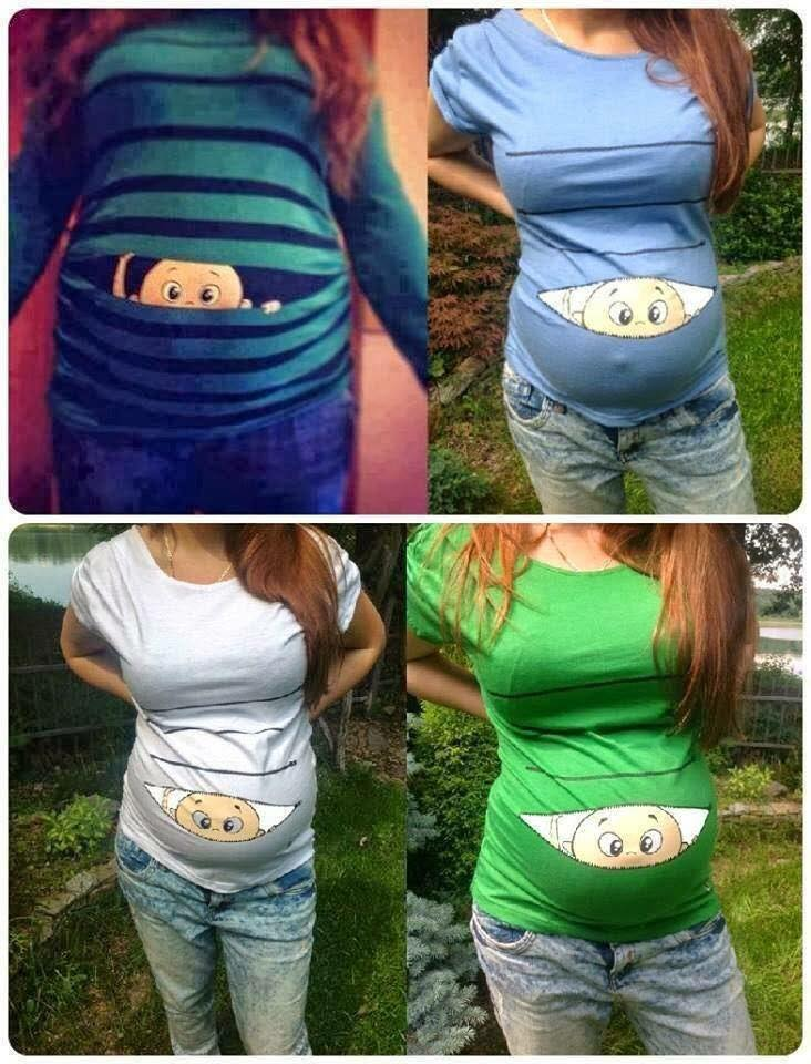 Komik ve eğlenceli hamile tişörtleri 5