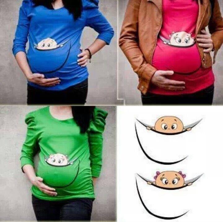 Komik ve eğlenceli hamile tişörtleri