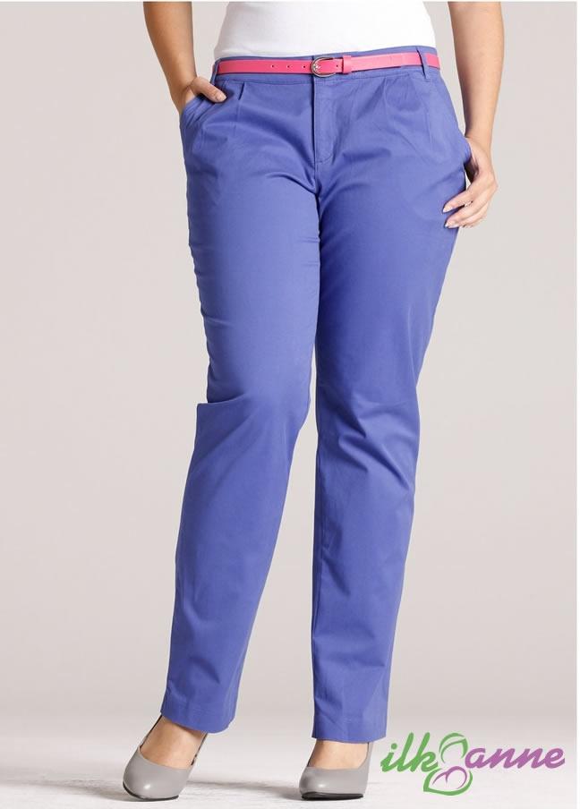 Rainbow Marka Puantiyeli Rahat Kesimli Bele Oturan Büyük Beden Pantolon Modeli 70 TL