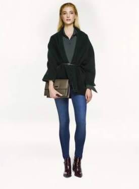 Siyah Sonbahar 2015 Kış İpekyol Mont Modeli