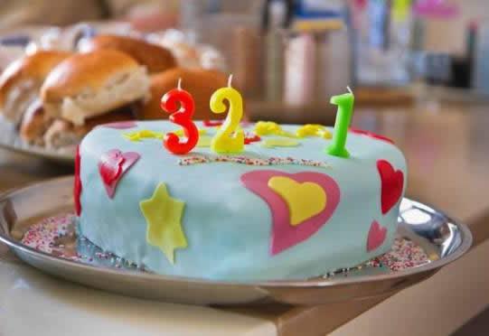 Süslemeli Doğum Günü Pastası