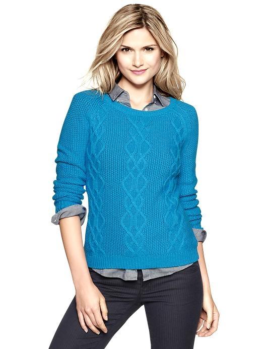 Yeni Sezon Kışlık Bayan Mavi Kazak Modelleri