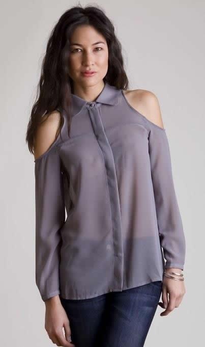 Yeni Sezon Omuzları Açık Farklı Gömlek Modeli